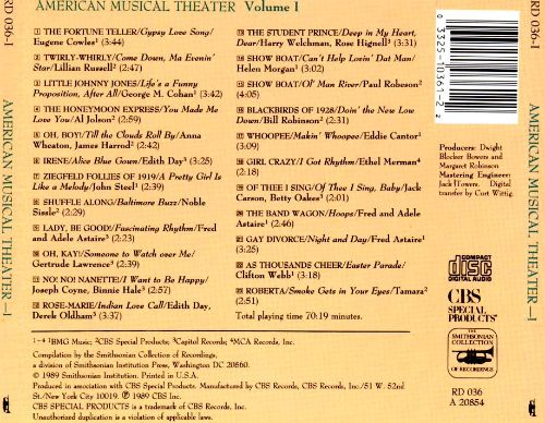 American Musical Theatre: Shows, Songs and Stars, Vol. 1