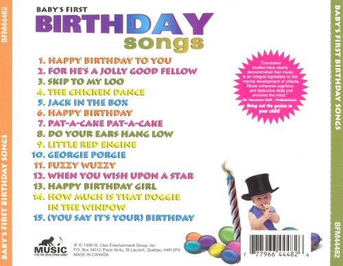 Baby's First: Birthday Songs