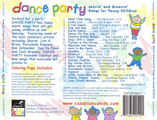 Dance Party: Movin' and Grovin' Songs for Young Children