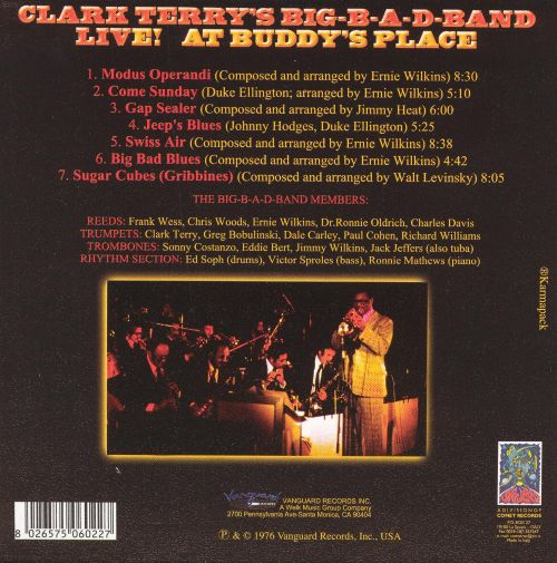 Clark Terry's Big B-A-D Band Live at Buddy's Place