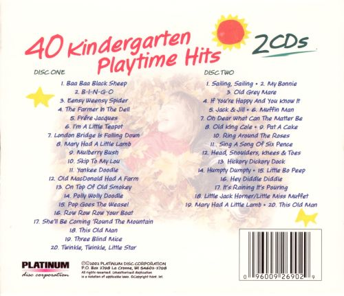 40 Kindergarten Playtime Hits