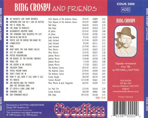 Bing Crosby and Friends: 1938-1949