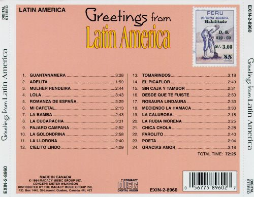 Greetings from latin america various artists songs reviews greetings from latin america various artists songs reviews credits allmusic m4hsunfo