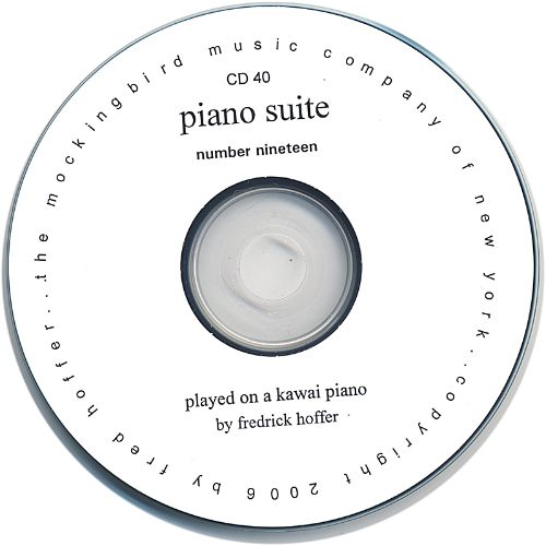 Frederick Hoffer: Piano Suite No. Nineteen