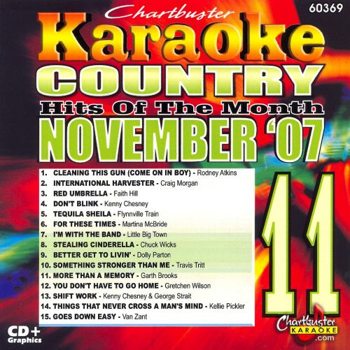 Chartbuster Karaoke: Country Hits November 2007