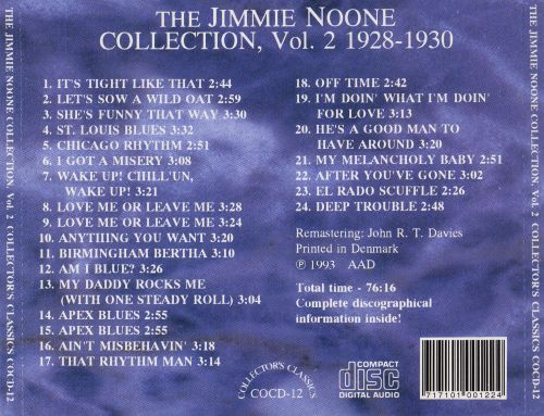The Jimmie Noone Collection, Vol. 2 (1928-1930)