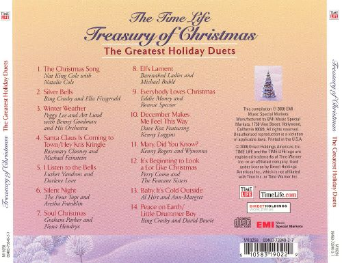 The Time-Life Treasury of Christmas: Greatest Holiday Duets ...