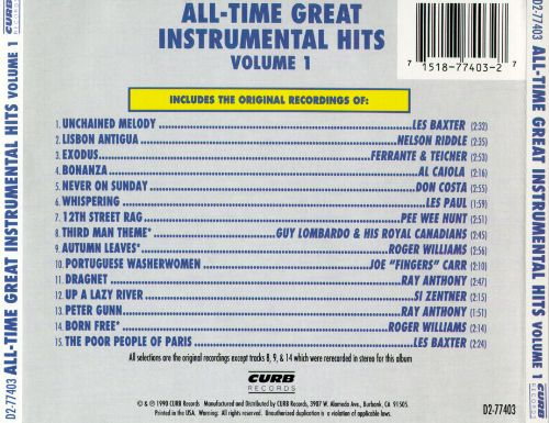 All-Time Great Instrumental Hits, Vol. 1