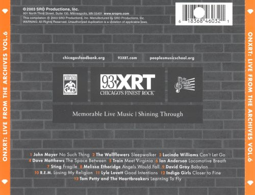 Onxrt: Live from the Archives, Vol. 6