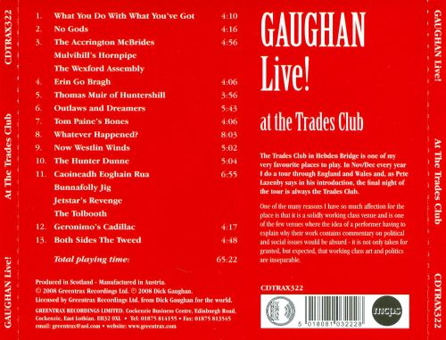 Gaughan Live! At the Trades Club