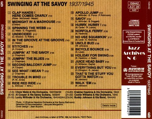 Swinging at the Savoy: Home of Happy Feet 1937-45