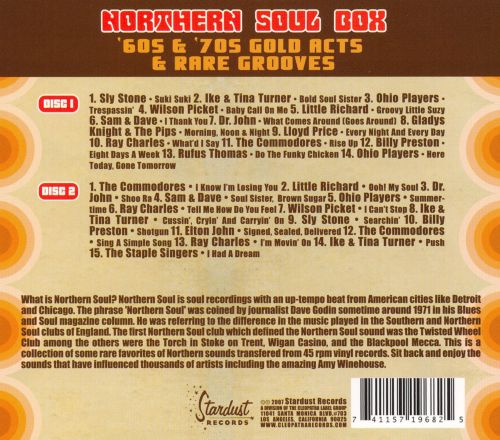 Northern Soul Box: 60s and 70s Gold Acts and Rare Grooves