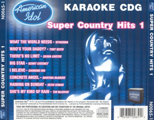 American Idol Super Country Hits, Vol. 1