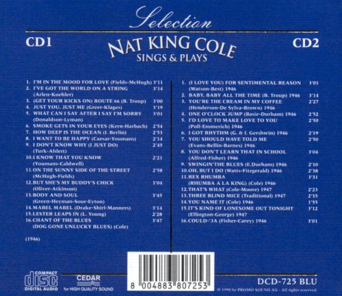 Selection of Nat King Cole: Sings & Plays