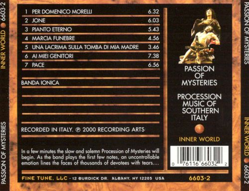 Passion of Mysteries: Procession Music of Southern