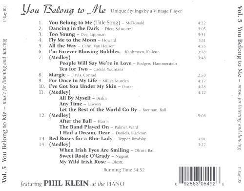 You Belong to Me: Music for Listening and Dancing, Vol. 5