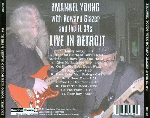 Live In Detroit Emanuel Young With Howard Glazer And The El 34S