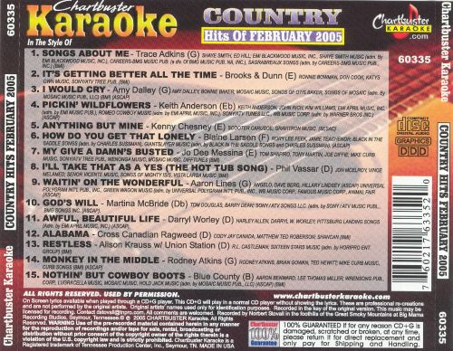 Chartbuster Karaoke: Country Hits February 2005