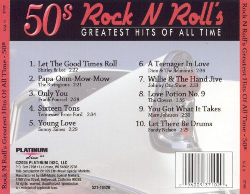 Rock N Roll's Greatest Hits of All Time 50's, Vol. 9