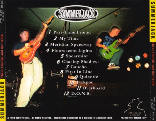 Three Chords And The Truth Summerjack Songs Reviews Credits