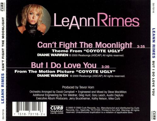 Can't Fight the Moonlight [US CD5/Cassette]