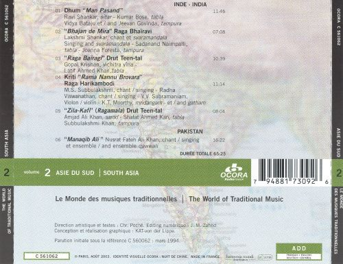 World of Traditional Music: South Asia