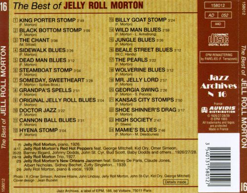 The Best of Jelly Roll Morton: 1926-1939