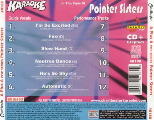 Chartbuster Karaoke: The Pointer Sisters