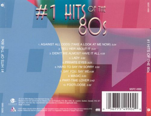 #1 Hits of the 80s [Disc 3]
