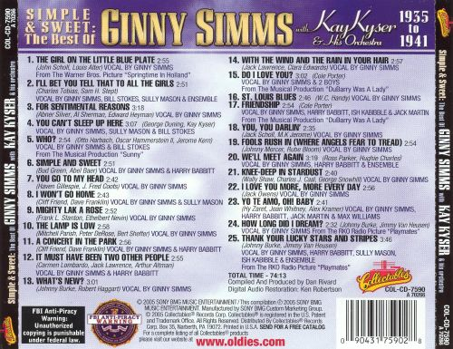 Simple and Sweet: The Best of Ginny Simms