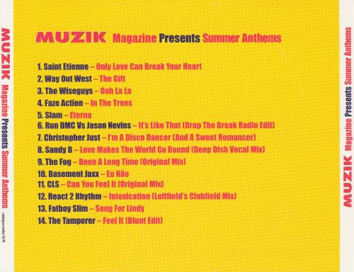 Muzik Magazine Presents Summer Anthems