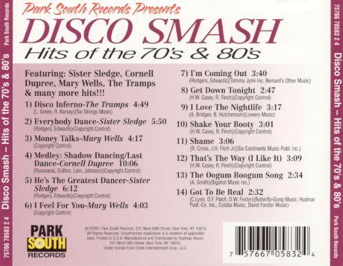 Disco Smash: Hits of the 70's & 80's - Various Artists ...