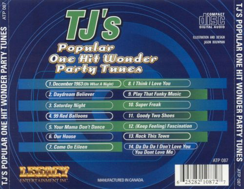 TJ's Popular One Hit Wonder Party Tunes