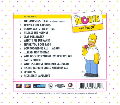 The Simpsons Movie The Music Original Soundtrack - The -7290
