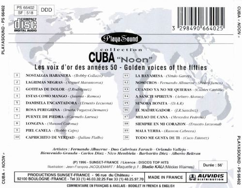 Cuba Noon: Golden Voices of the 50's