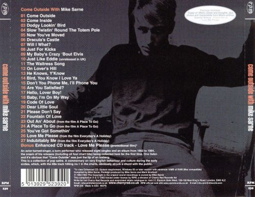 Come Outside with Mike Sarne: The Definitive Singles Collection