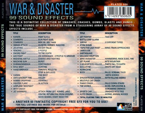 War and Disaster: 99 Sound Effects
