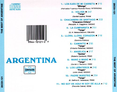 Argentina: The Best of Argentine Tango and Folk Music
