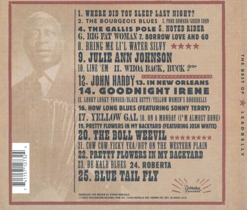 The Best of Leadbelly [Cleopatra]