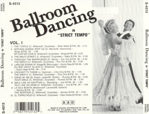 Ballroom Dancing: In Strict Tempo, Vol. 1