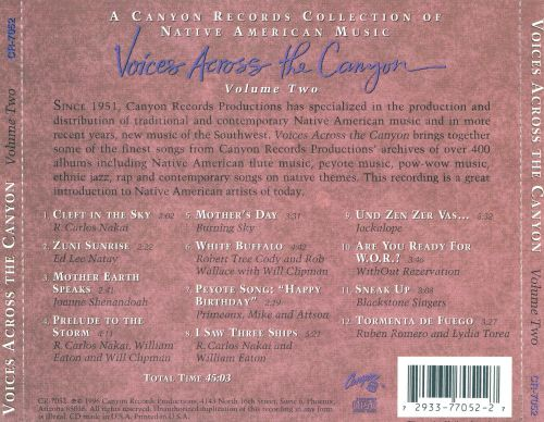 Voices Across the Canyon, Vol. 2