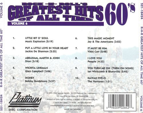 Rock -N- Roll's Greatest Hits of All Time, Vol. 6