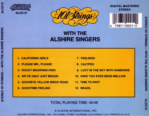 One Hundred and One Strings with the Alshire Singers