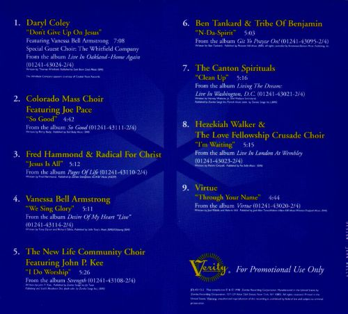Verity Records' Winter Music Sampler