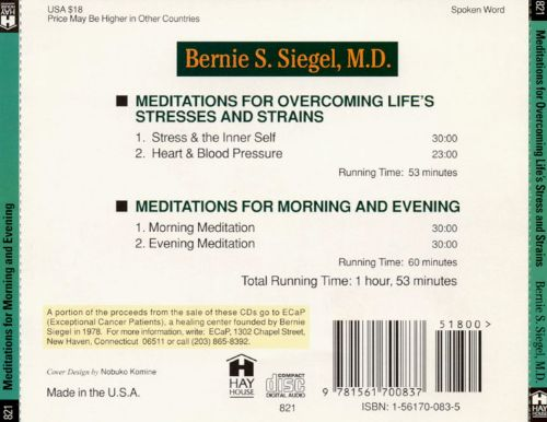 Meditations for Overcoming Life's Stress and Strains/Meditations for Morning and Evenin