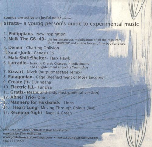 Strata: A Young Person's Guide to Experimental Music