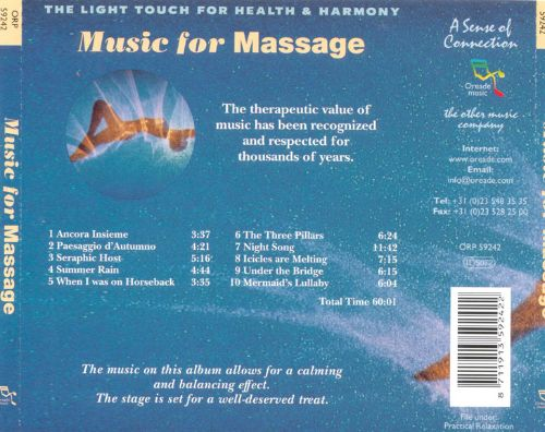 ... Music For Massage: The Light Touch For Health And Harmony
