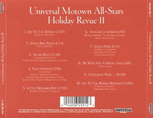 Universal Motown All-Stars: Holiday Revue It