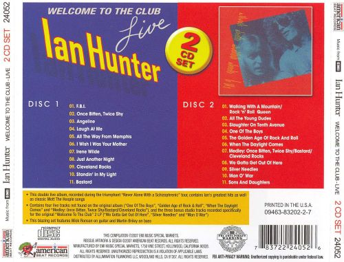 welcome to the club live ian hunter data corrections allmusic. Black Bedroom Furniture Sets. Home Design Ideas