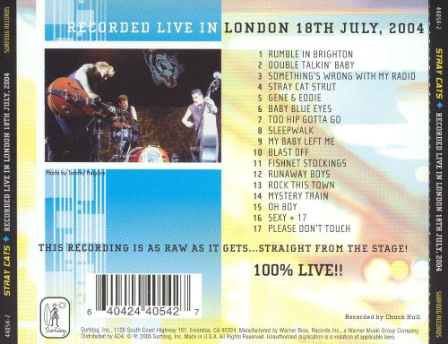 Live in London, 18th July, 2004
